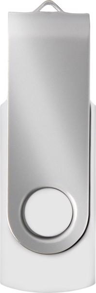ABS USB drive (16GB/32GB) - White / Silver