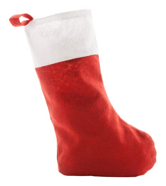 Vánoční Punčocha Saspi - Červená / Bílá