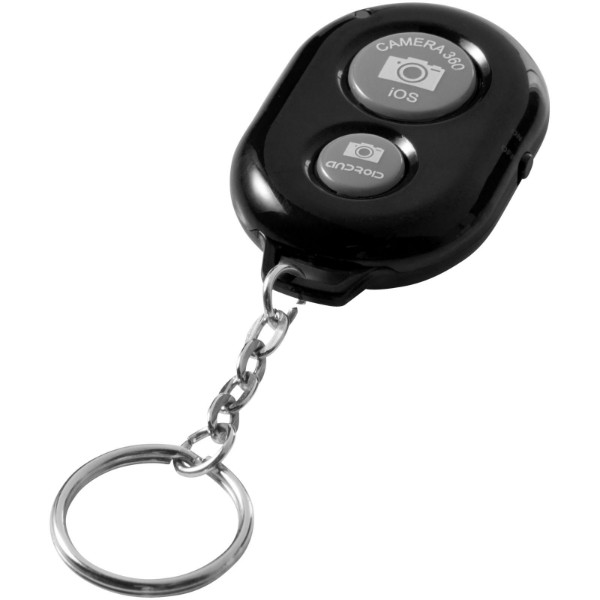 Selfie Bluetooth® remote shutter keychain - Solid black