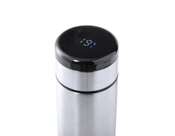 Thermometer Vacuum Flask Kaucex - Silver