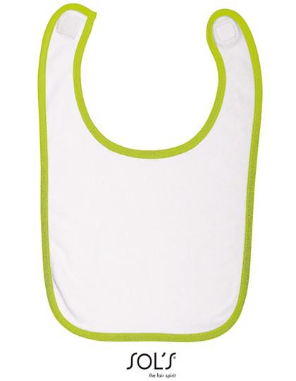 Baby Bib Babib - White / Apple Green / One Size