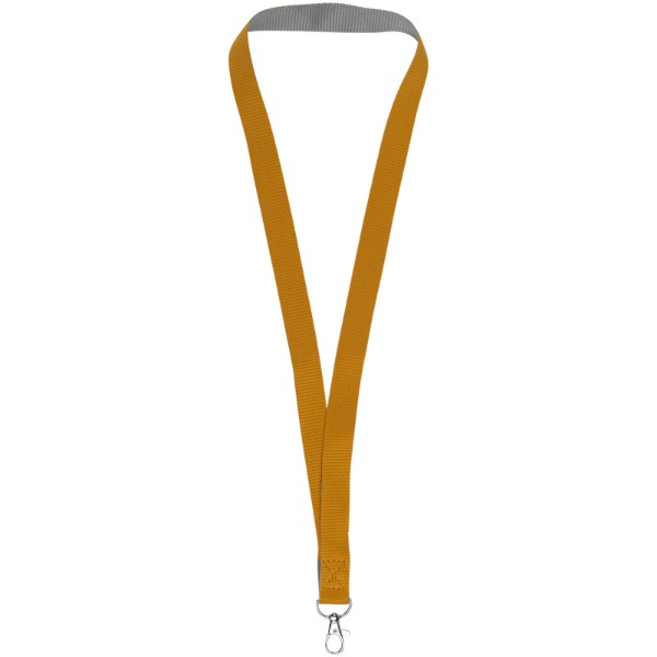 Aru zweifarbiges Lanyard mit Klettverschluss - Orange