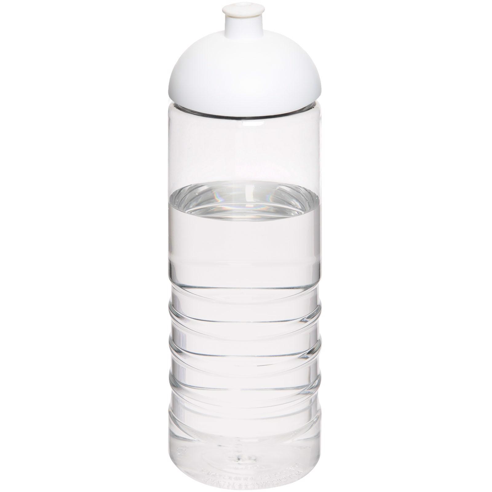 H2O Treble 750 ml Sportflasche mit Kuppeldeckel - Transparent / Weiss