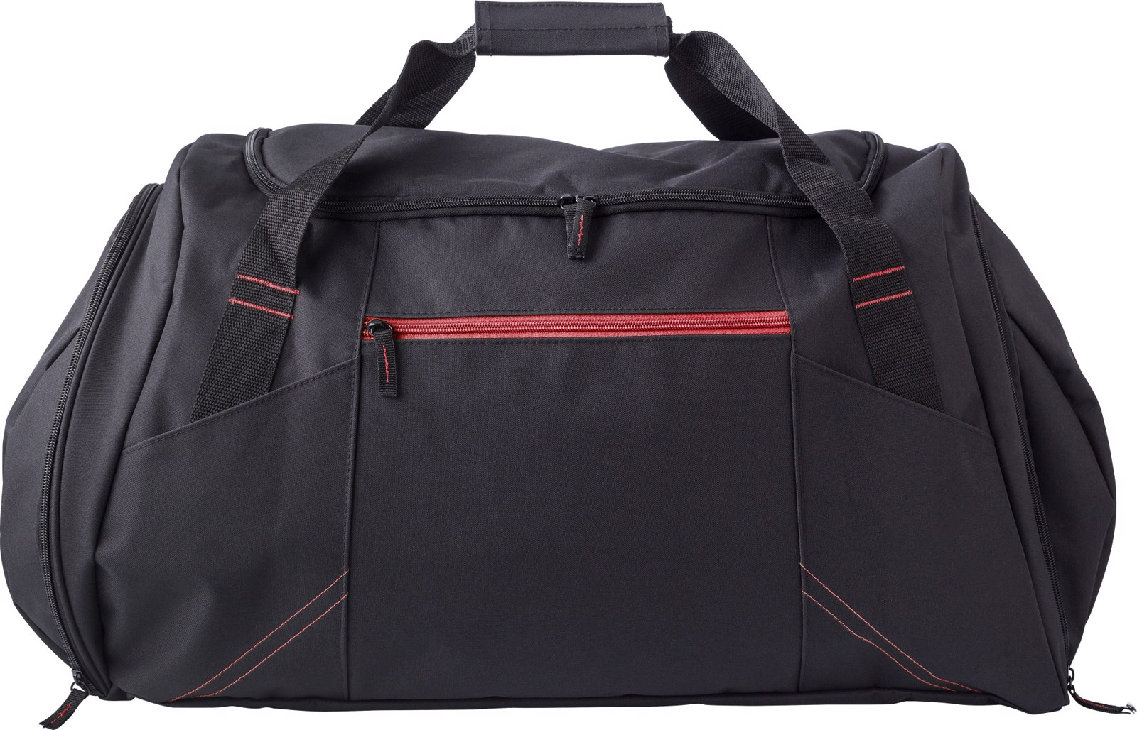 Polyester (300D) sports bag - Red