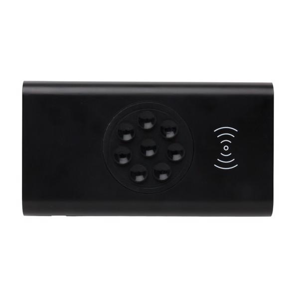 Bezdrátová powerbanka s USB C 8 000 mAh 5W - Černá