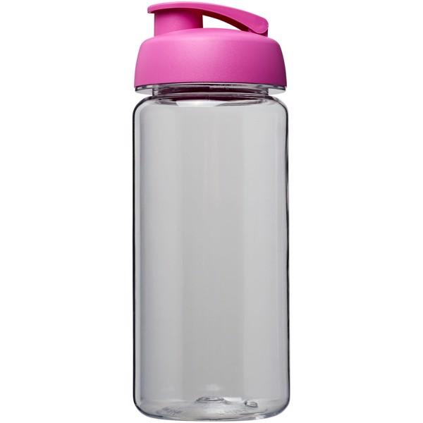 H2O Octave Tritan™ 600 ml flip lid sport bottle - Transparent / Pink