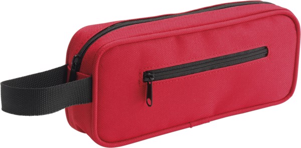 Nylon pencil case - Red