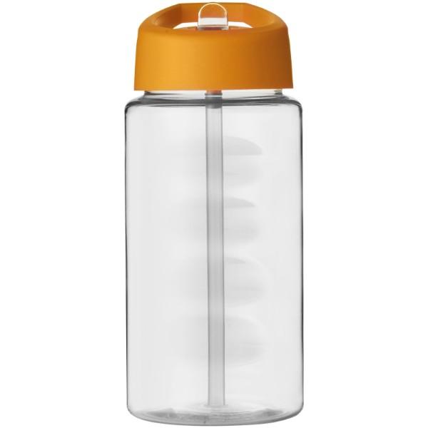 Sportovní láhev svíčkem shubičkou H2O Bop 500 ml - Průhledná / 0ranžová