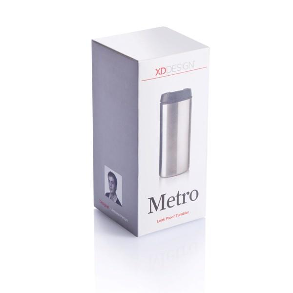 Termohrnek Metro - Stříbrná / Černá