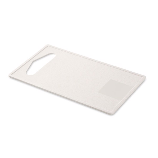 Cutting board bamboo fibre/PP Corta Board - White