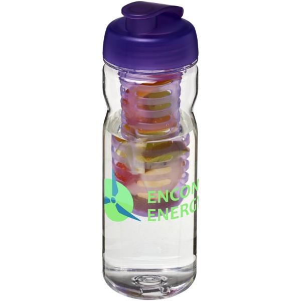 Láhev s infuzérem a vyklápěcím víčkem Base Tritan™ 650 ml - Průhledná / Purpurová