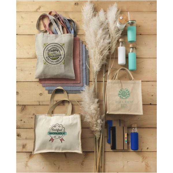 Pheebs nákupní taška ze směsi recyklované bavlny a polyesteru 150 g/m² - Heather modrá