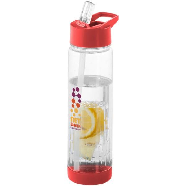 Láhev s infuzérem Tutti frutti - Průhledná / Červená s efektem námrazy