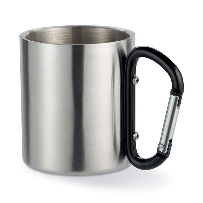 Metal mug & carabiner handle Trumbo - Black