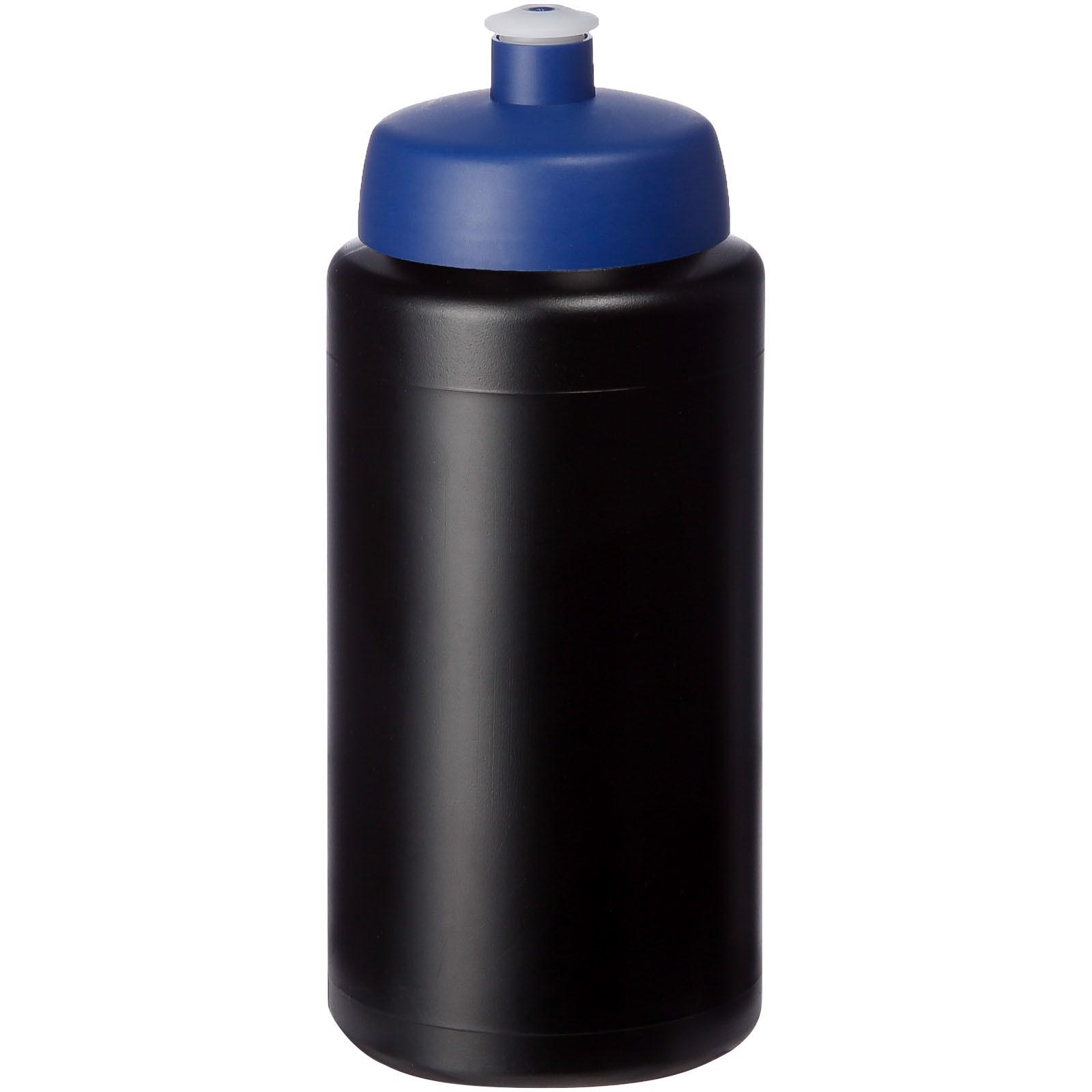 Baseline® Plus grip 500 ml sportovní lahev s víčkem na sport - Černá / Modrá