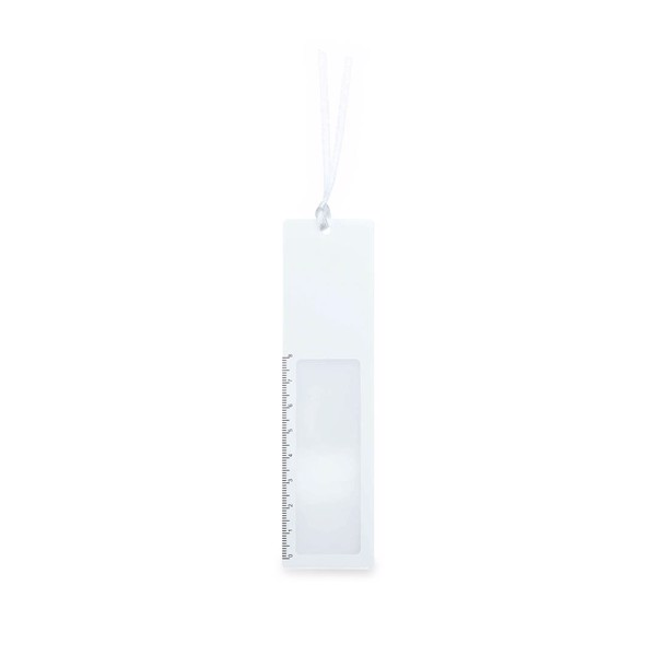 Ruler Magnifier Bookmark Okam - White