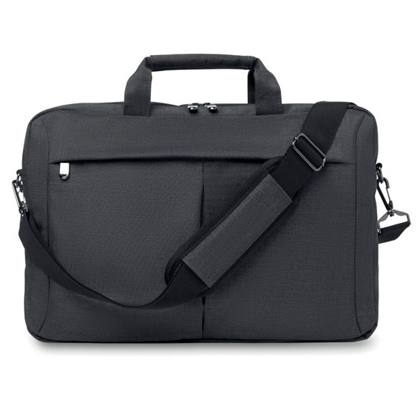 Laptop bag in 2 tone 360d Stockholm - Grey