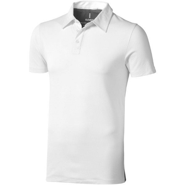 Markham short sleeve men's stretch polo - White / 3XL