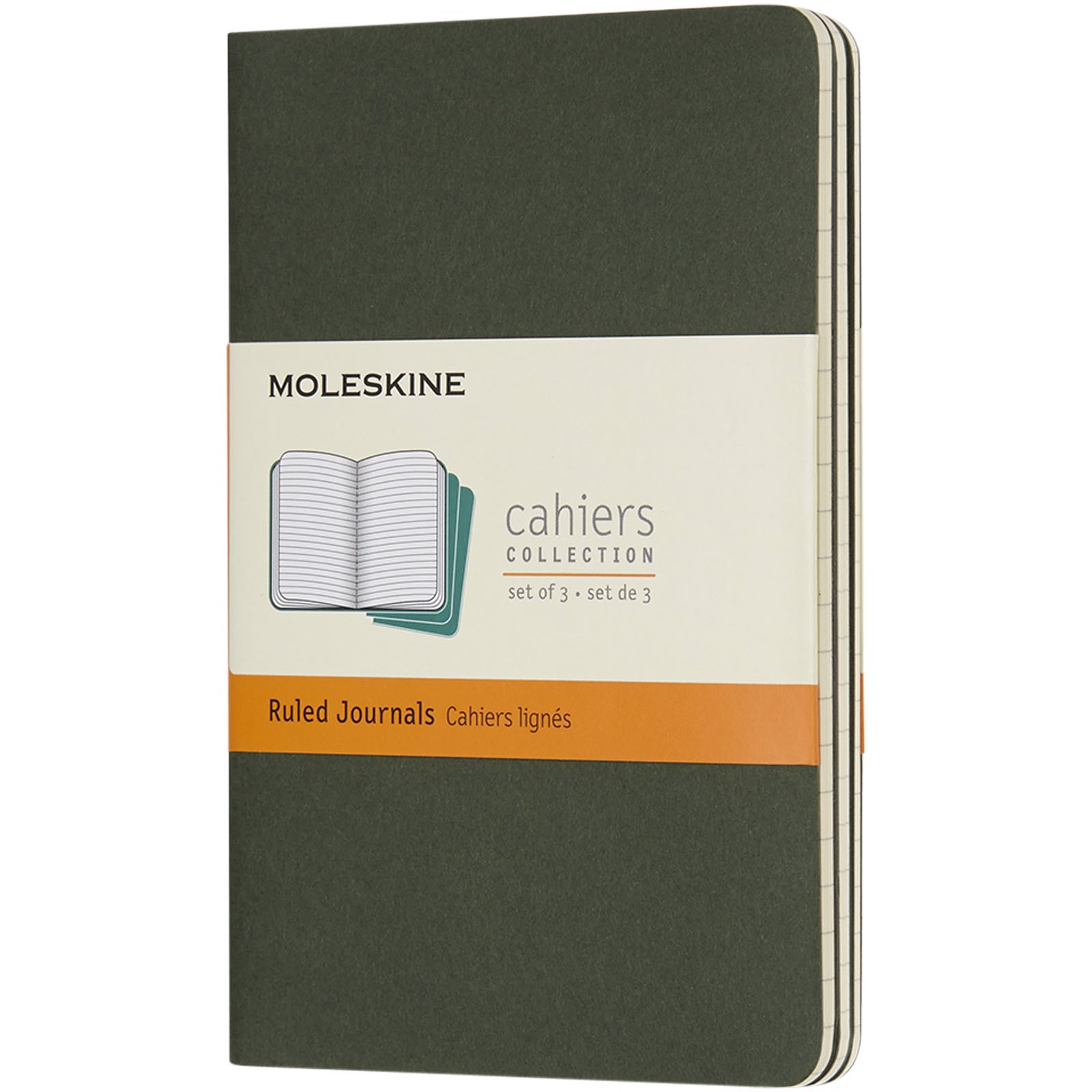 Cahier Journal PK - ruled - Myrtle green