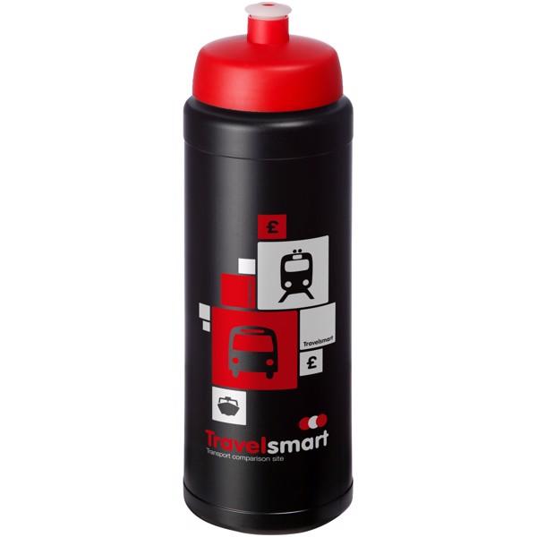 Baseline® Plus grip 750 ml sportovní lahev s víčkem na sport - Černá / Červená s efektem námrazy