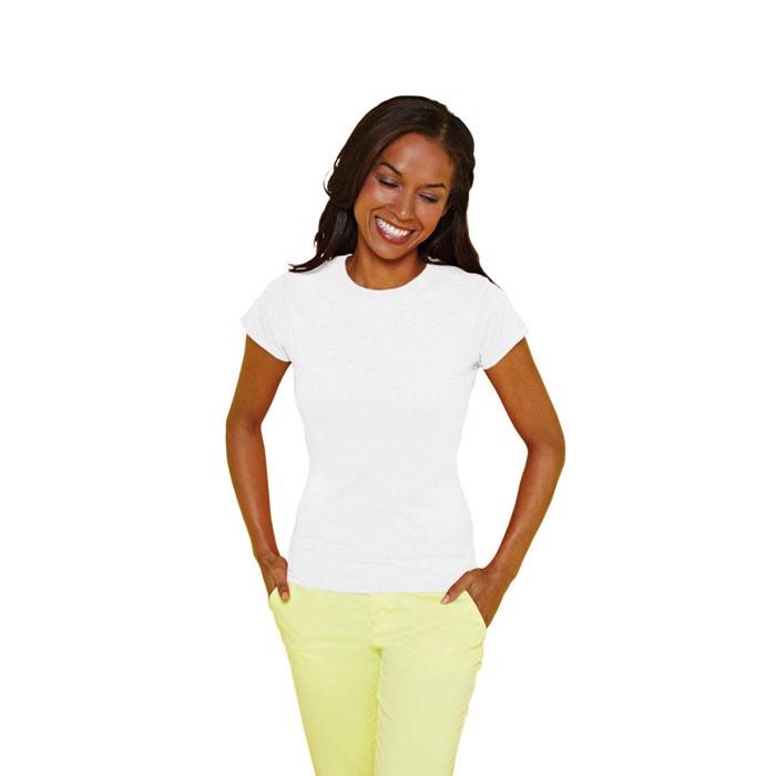 Dámské tričko 150 g/m² Lady-Fit Ring Spun 64000L - White / M