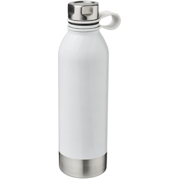 Perth 740 ml stainless steel sport bottle - White