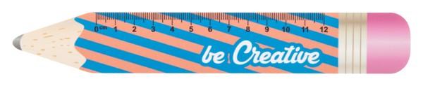 12 Cm Pravítko Ve Tvaru Tužky Sharpy 12 - Bílá
