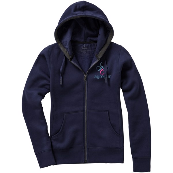 Arora hooded full zip ladies sweater - Navy / XXL