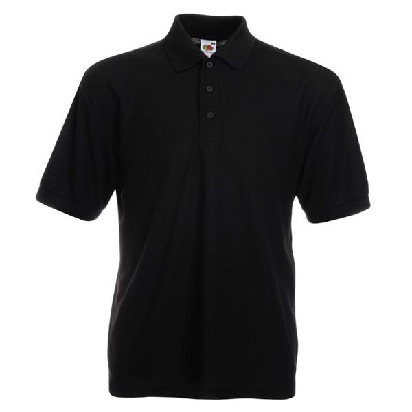 Męska Koszulka polo 170g/m 65/35 Blended Polo 63-402-0 - Czarny / Czarny opal / XXL