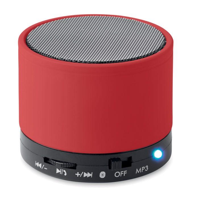 Round wireless speaker Round Bass - Red