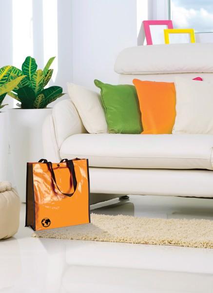 Nákupní Taška Z Recyklovaného Materiálu Recycle - Oranžová / Černá