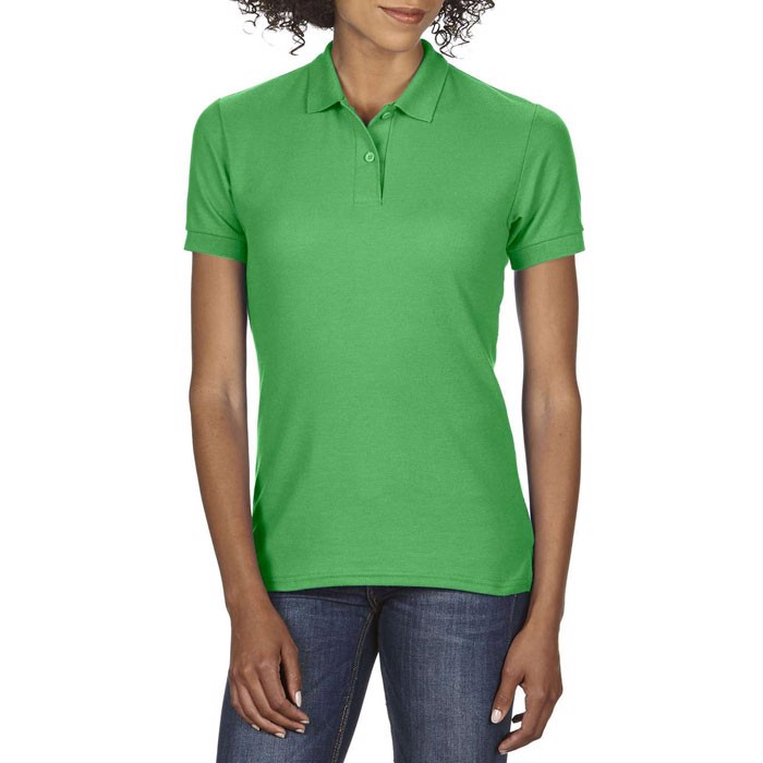 Dámské Double Pique Polo Dryblend Ladies Pique 75800L - Irish Green / XXL
