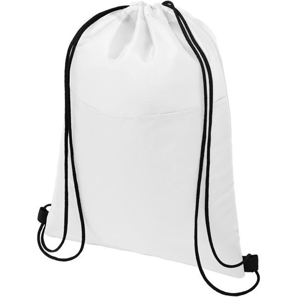 Oriole šňůrková chladicí taška na 12plechovek - Bílá