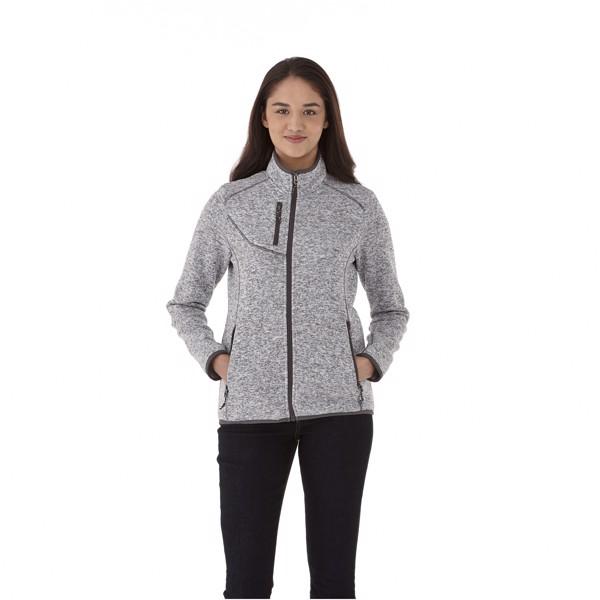 Tremblant women's knit jacket - Heather smoke / XS