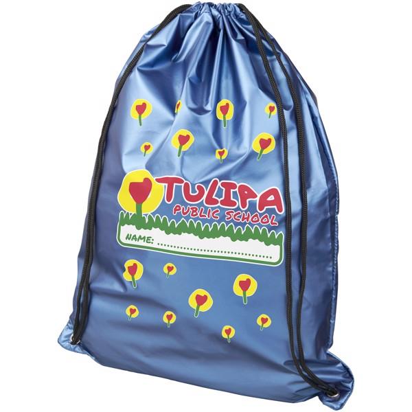 Oriole lesklý šňůrkový batoh - Světle modrá