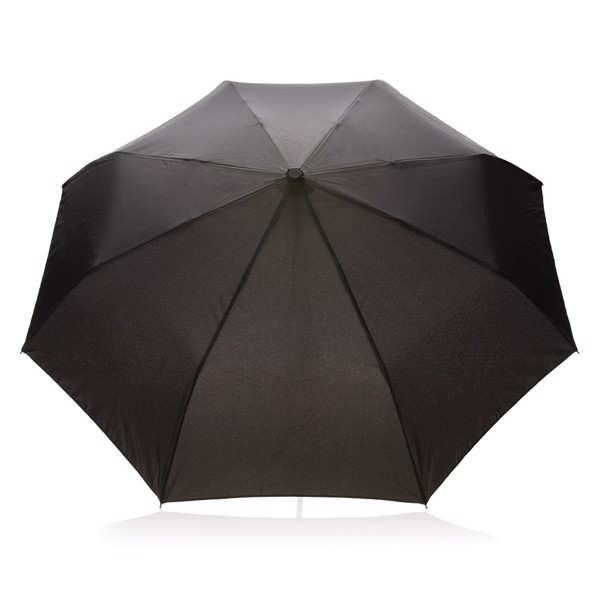 """21"""" automatický deštník z RPET - Černá"""