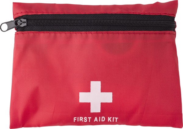 Nylon (210D) first aid kit - Red