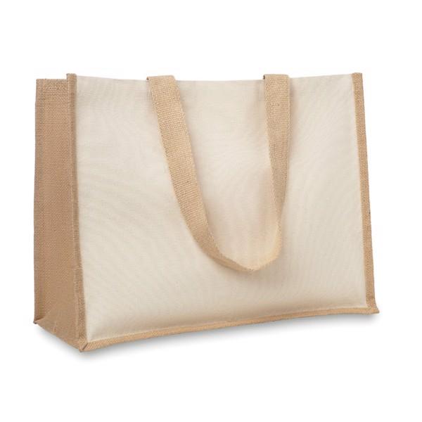 Jute and canvas shopping bag Campo De Fiori - Beige