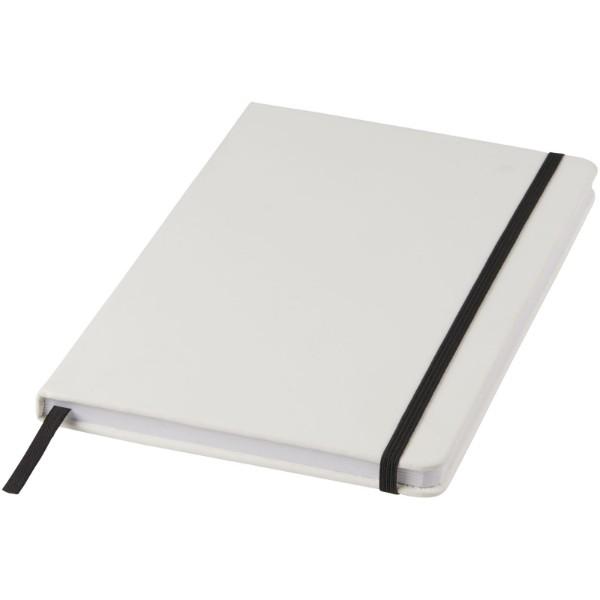 Bílý zápisník Spectrum A5 s barevnou páskou - Bílá / Černá