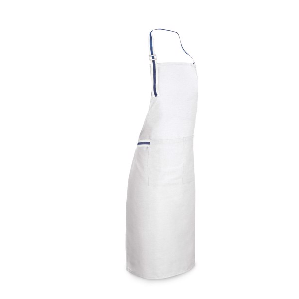 GINGER. Apron in cotton and polyester - White