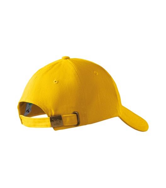 Cap unisex Malfini 6P - Yellow / adjustable