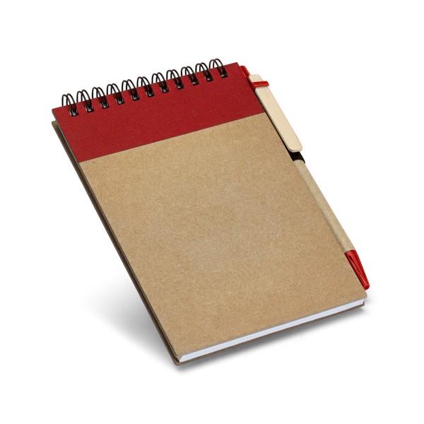 RINGORD. Kapesní zápisník - Červená