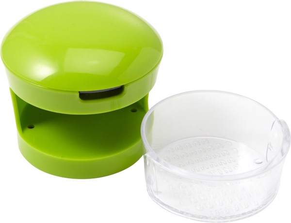 Plastic with stainless steel garlic cutter - Lime