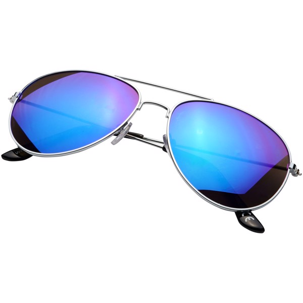 Aviator sunglasses with coloured mirrored lenses - Magenta