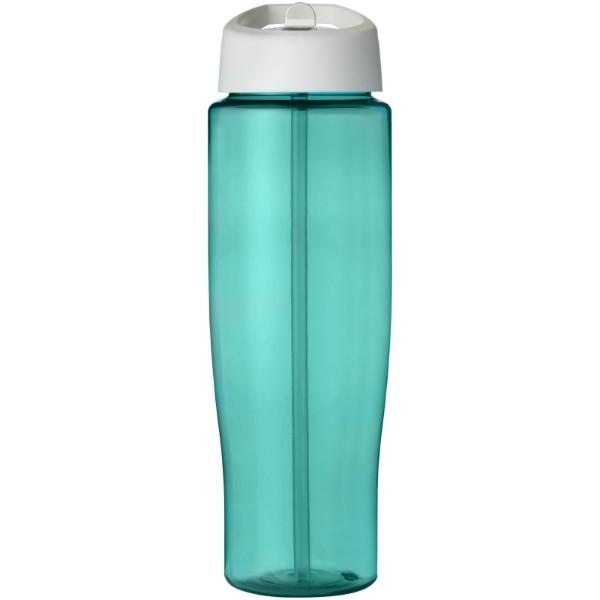 H2O Tempo® Bidón deportivo con tapa con boquilla de 700 ml - Azul aqua / Blanco