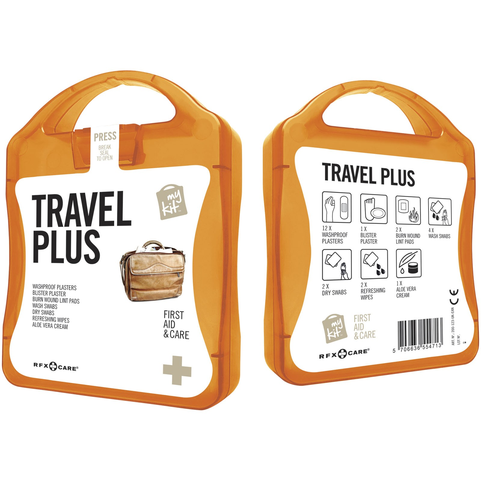 MyKit Travel Plus First Aid Kit - Orange