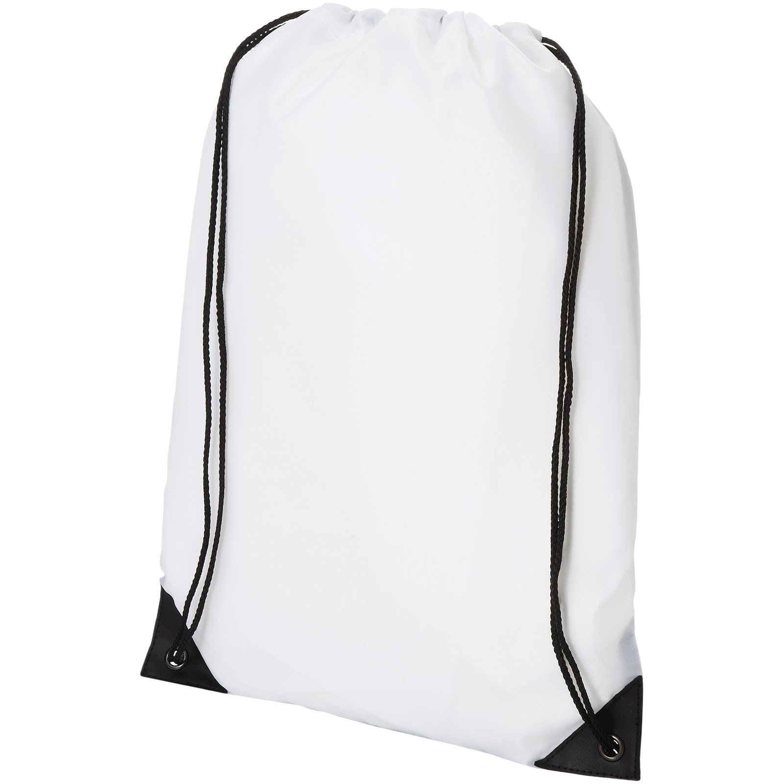 Condor polyester and non-woven drawstring backpack - White