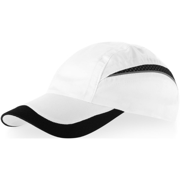 Qualifier 6 panel mesh cap - White / Solid black