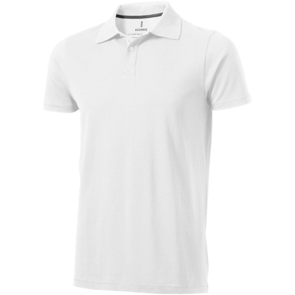 Seller short sleeve men's polo - White / XXL