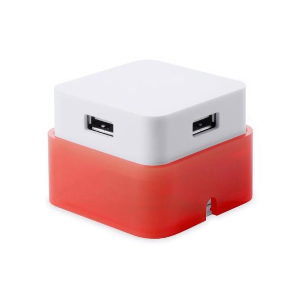Puerto USB Dix - Rojo